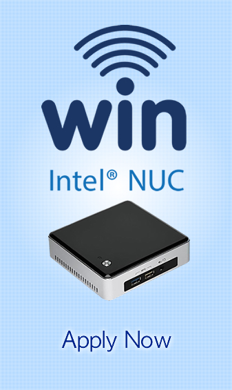 Win a free Intel NUC once every week
