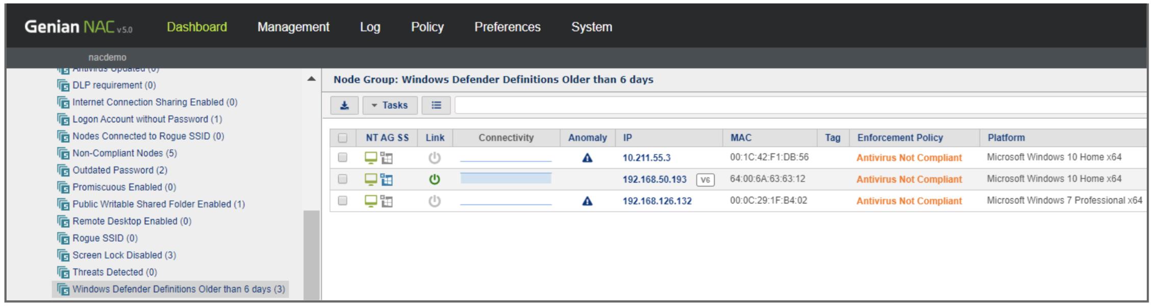 Windows Defender Node Group